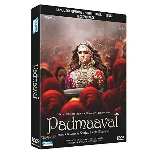 Padmaavat Hindi / Tamil/ Telugu DVD ( All Regions English Subtitles )