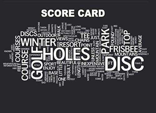 Disc Golf Score Card: 110 Sheets Disc Golf Score Sheets, Disc Golf Score Keeper Score book, Golf Notebook For Beginners and Professional Golfer