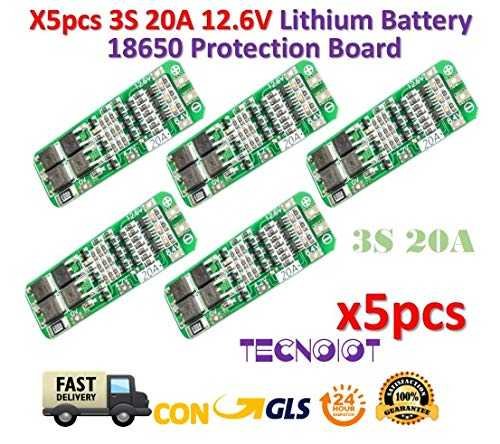 TECNOIOT 5pcs 3S 20A 12.6V Li-ION Lithium 18650 BMS PCM Battery Protection Board