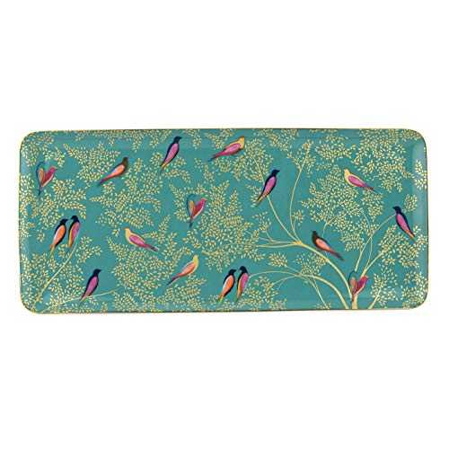 Chelsea Collection Green Birds Sandwich Tray - Green Ø36cm