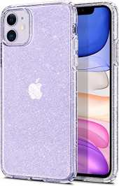 Spigen Coque iPhone 11 [Liquid Crystal Glitter] Souple, Paillettes Transparentes, Mince, Légère, Coque Compatible avec iPhone 11 (2019) - Crystal Quartz