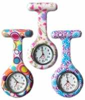 Boolavard® TM 3pcs Flowers Silicone Supervision de l'infirmière Médecin Paramédic Tunique Broche Montre Fob Medical Watch, Pack of 3