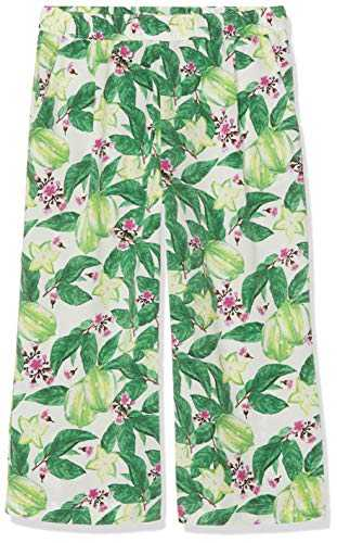 Name It Nkfvinaya Culotte Pant H Pantalon, Multicolore (Bright White Detail: Big Flower Print), 140 Fille