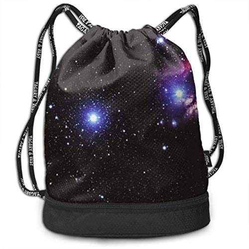 Sacs à Cordon,Sacs de Sport,Sacs à Dos Loisir, Space Galaxy Radiance Wallpaper Background Standard Personalized Multifunctional Beam Drawstring Backpack Unisex Suitable for Outdoor Travel