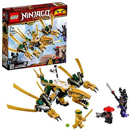 LEGO-Le Dragon d'or Ninjago Jeux de Construction, 70666, Multicolore