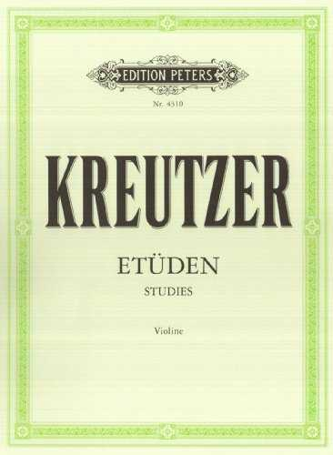 42 études (édition Peters) - violon