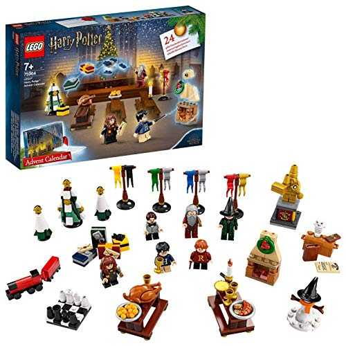LEGO- Calendrier de l'Avent Harry Potter 2019, 24 Cadeaux Avant Noël Inclus 7 Figurines Jeux de Construction, 75964, Multicolore