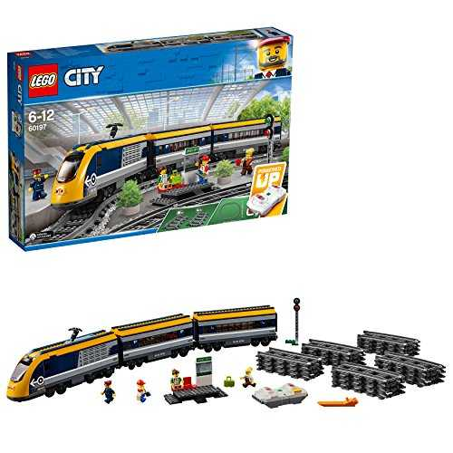 LEGO City - Le train de passagers télécommandé - 60197 - Jeu de Construction