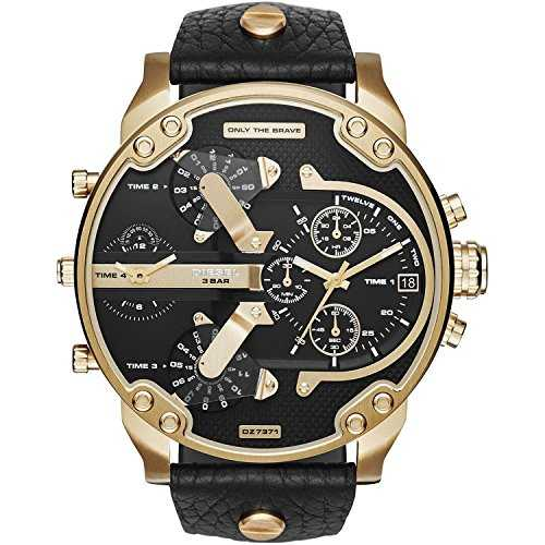 Marques Mr Daddy Montres Homme Mr Daddy Uni Chronographe Or Noir 7371