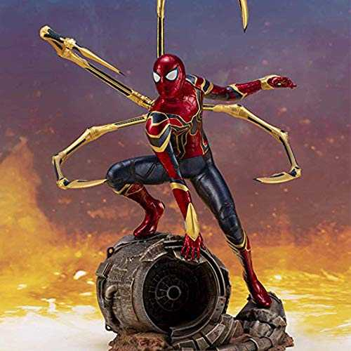COOL MODEL Avengers 3 Amazing Spiderman Modèle Infini Statue De Fer De Fer Spiderman avec Base -18cm