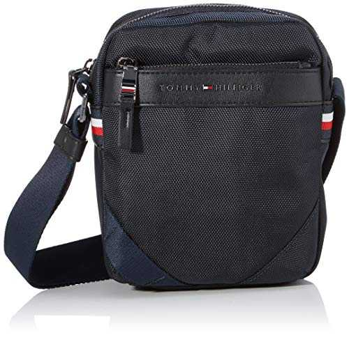 Tommy Hilfiger Elevated Nylon Mini Reporter, Sacs portés épaule homme, Bleu (Sky Captain),