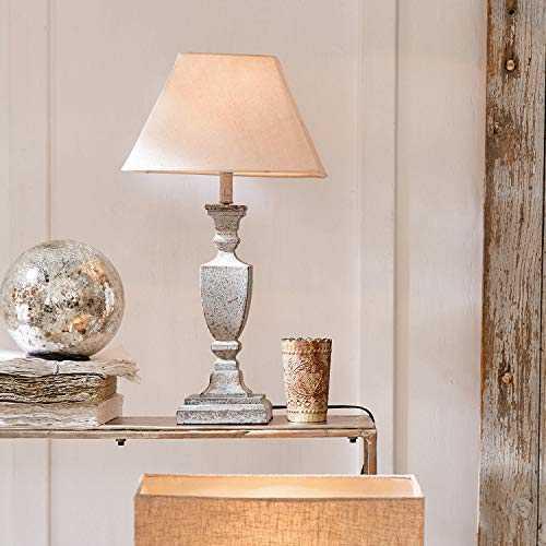 Loberon Lampe à poser Gorham   pin, coton, lin   H/D env. 58.5/14 cm