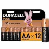 Duracell Plus, pack de 12 piles alcalines Type AA 1,5 Volts LR6 MX1500