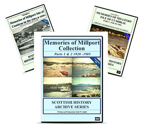 "DVD Special 2 Disk Collection ""Memories of Millport Collection Parts 1&2 1920-1985"" SAVE £5.99 versus individual Disk purchase Scottish Glasgow Clyde Ayrshire history maritime"
