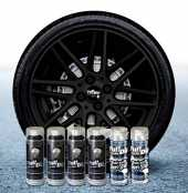 Sophisticauto Lot de 6 Sprays Full Dip Vinyles liquides Noir Brillant pelable 400 ML