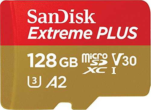 SanDisk Extreme Plus 128GB microSDXC Memory Card    SD Adapter with A2 App Performance   Rescue Pro Deluxe, up to 170MB/s, Class 10, UHS-I, U3, V30