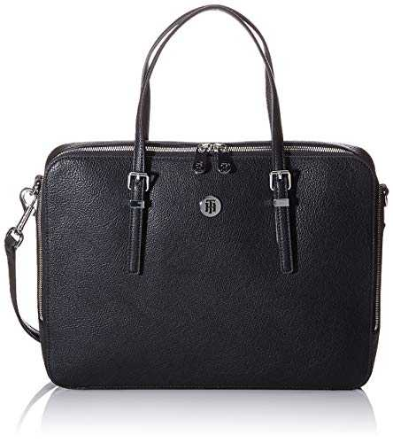Tommy Hilfiger Honey Computer Bag, Sacs bandoulière femme, Noir (Black),