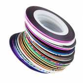Snner 32 pcs nail Sticker Fil Bandes Striping Tape Autocollant Manucure Ongle Nail Art Tips