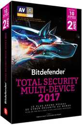 Bitdefender Total Security Multi-Device 2017 (10 appareils, 2 ans)