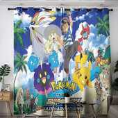 Elliot Dorothy Pokemon Pikachu Anime Comic Cartoon Washable Curtains Curtains for Living Room Window Curtain Drape for Kids Room,Baby Room W63 x L63