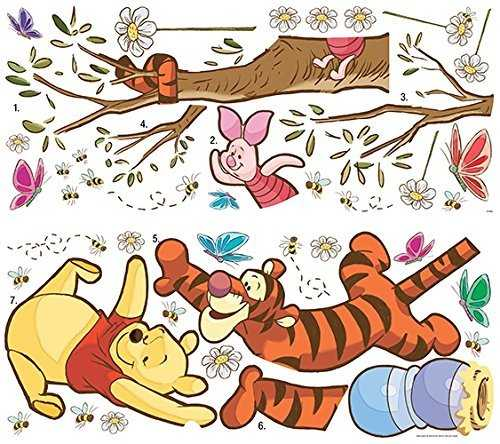 Thedecofactory 539148 Winnie The Pooh Swinging for Honey Peel and Stick Giant Wall Decals REPOSITIONNABLES, Vinyle, Multicolore, 104 x 46 x 0,1 cm