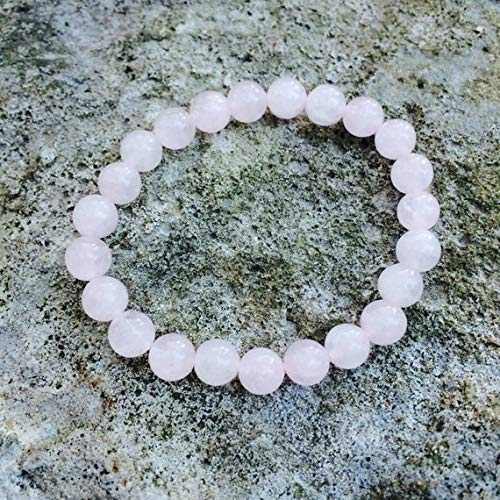 LOVEKUSH Beautiful AAA++ Quality Healing bracelet rose quartz, Natural rose quartz bracelet, Beaded stretch bracelets, Yoga braclet woman, quartz 8mm