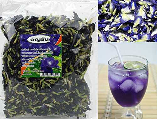 100% Naturally Produced Dried Blue Pea (Clitoria Ternatea) - Butterfly Pea Tea 100g Bag (Grade A)
