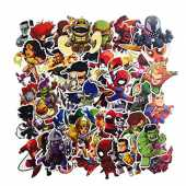 SetProducts Top Stickers ! Lot de 50 Stickers Marvel - Autocollants HD Non Vulgaires – Bomb, Super Heros, Hulk, Spiderman, Superman, Tortues Ninja - Customisation, Scrapbooking, Personnalisation…