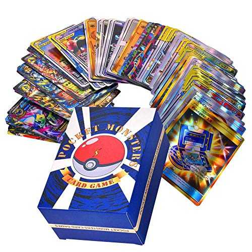 Rainnao Lot de 120 Cartes Pokemon (30xTeam up   50xMega   20xTrainer   20xUltra Beast GX) - ou Pok Lot de 60 Cartes à Collectionner Pokemon (35MEGA   25GX) Trading Cards