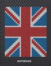 Notebook: UK Flag Union Jack in Carbon Fiber /Plain Notebook - Large (8.5 x 11 110 Pages) , Cute Gifts for Girls Boys & Women Men