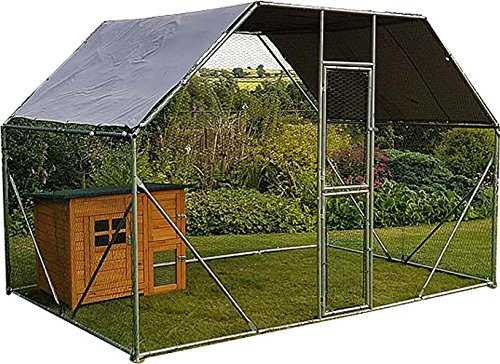 2m x 3m Walk in Dog Kennel Pen Run Plein air Exercice Cage - Cage 04 FR