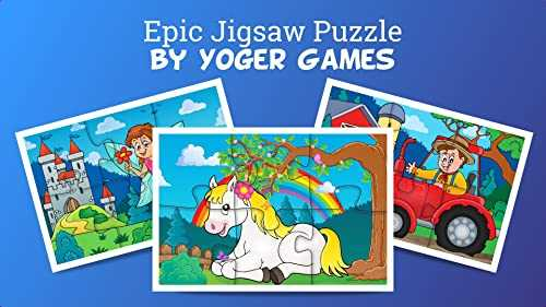 Epic Jigsaw Puzzle - Fun and Educational Dinos Puzzle Game for Preschool Toddlers, Boys and Girls Ages 2, 3, 4, 5 Years Old